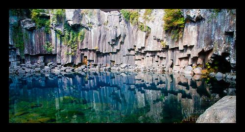 At Cheoenjeyeon waterfalls