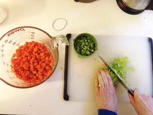 veggies for split pea soup