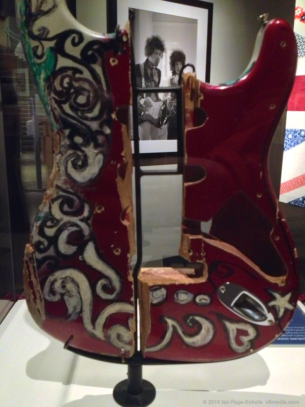 Jimi's burgundy guitar at the EMP