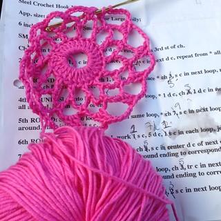 crochet doily, lace