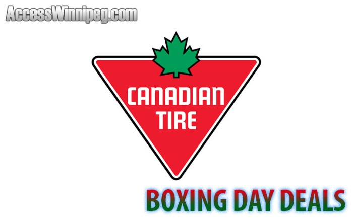 Canadian Tire Boxing Day Deals 2017