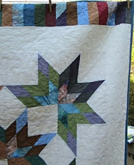 Lone Starburst Finished Hip To Be A Square Quilting
