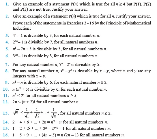 Class 11 Important Questions For Maths