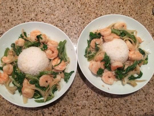 Shrimp & Mustard Green Laing