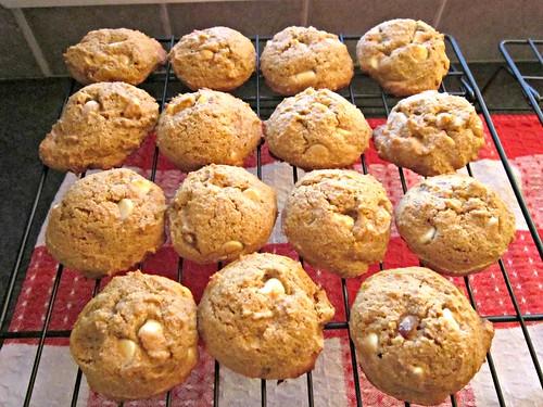 Pumpkin White Choc Cookies