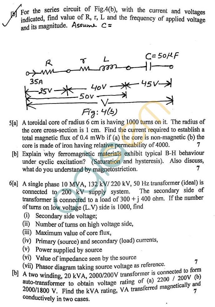 DTU: Question Papers 2012 – 1 Semester - End Sem - EE-105