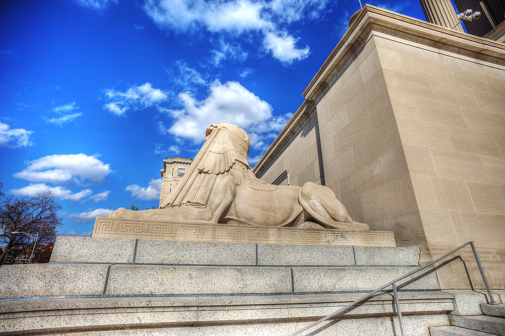 Sphinx in front of the Scottish Rite Temple