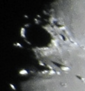 Side View of Plato Crater