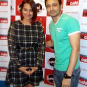 Sonakshi Sinha and Jaey Gajera Showing Tevar together at Fever 104 FM Radio Station to Promote upcoming Indian 2015 Bollywood film Tevar. Twitter.com/JaeyGajeraIndia #ArjunKapoor #SonakshiSinha #ManjoBajpayee #ClintonCerejo #Tevar #Attitu.