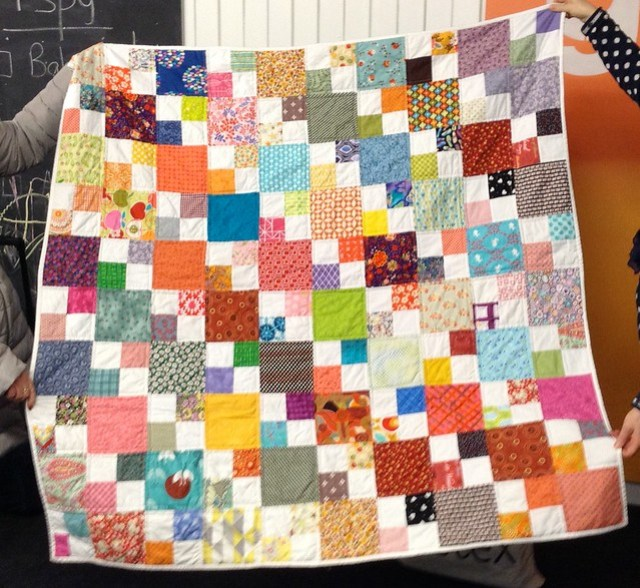 Bee Blessed double 4 patch quilt