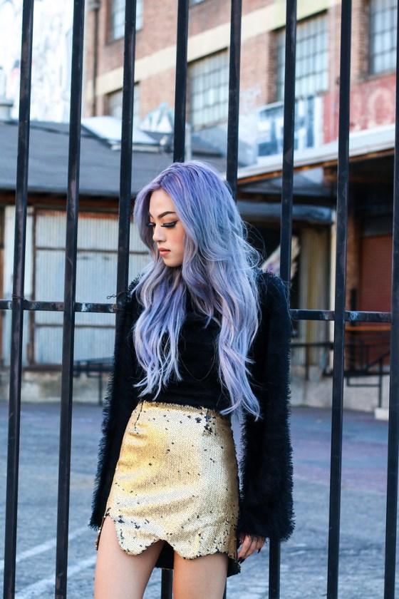 Ellen V Lora Gold Skirt