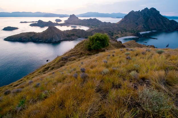Twilight. Padar Island, Komodo