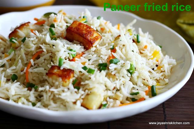 Paneer-fried rice
