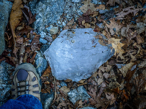Whiteside Mountain-Fallen Ice Chunk