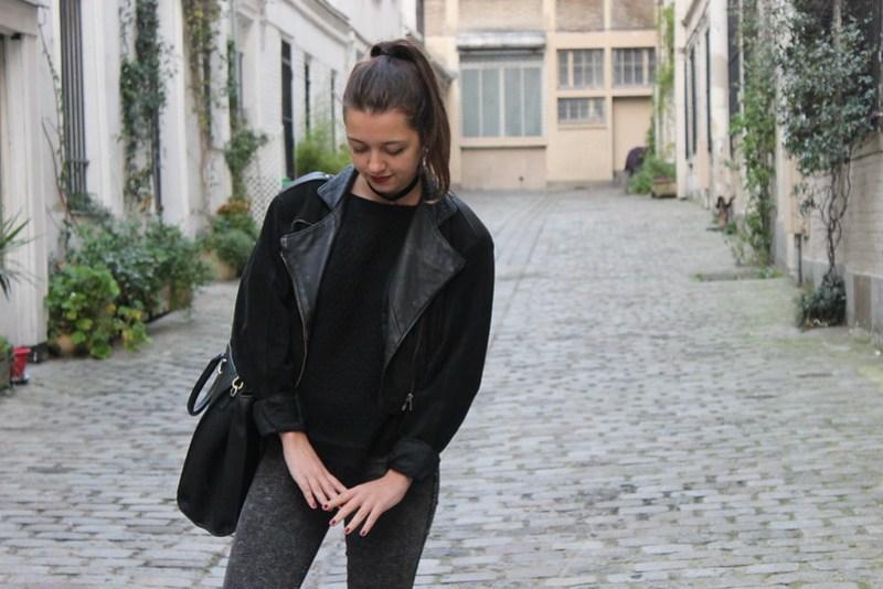 Jean Taille Haute American Apparel gris
