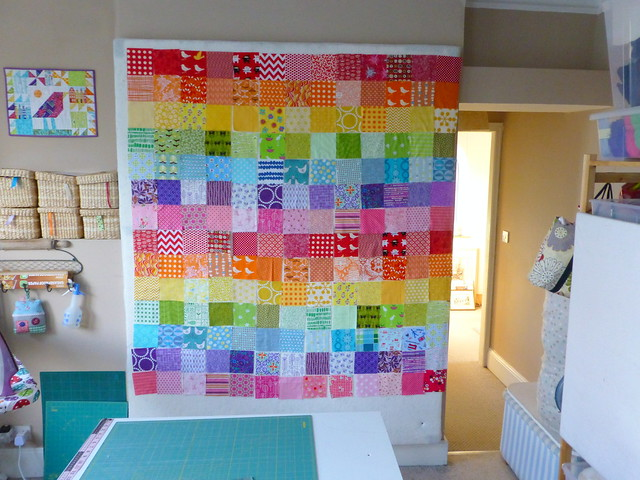 Rainbow charms quilt