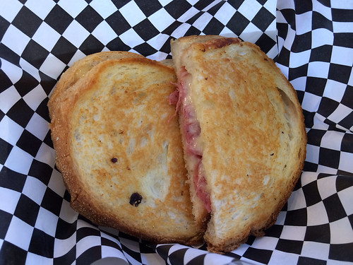 Grilled cheese and salami