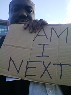 Manchester Ferguson protest