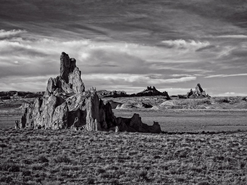 Church Rock B&W