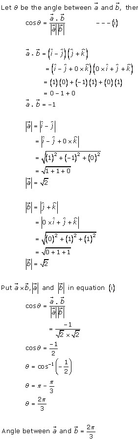 RD Sharma Class 12 Solutions Chapter 24 Scalar or Dot Product Ex 24.1 Q5-i