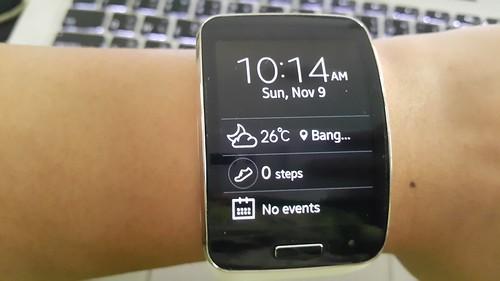 รูปแบบนาฬิกาดิจิตอลบน Galaxy Gear S