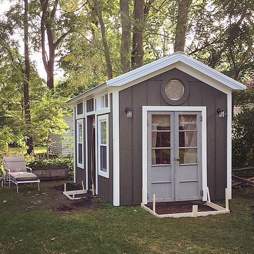 And the #after of the exterior #tinyhouse #studio (to be fair, there's concrete instead of forms - it's dark and I'm beside myself excited - so regramming.) ahhhhh!