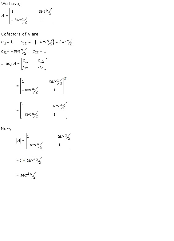 RD Sharma Class 12 Solutions Chapter 7 Adjoint and Inverse of Matrix Ex 7.1 Q1-v