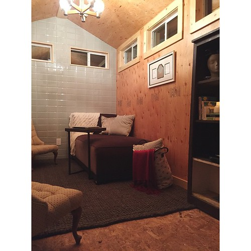 This is #after :: Behold! A finished #tinyhouse #studio !!!!!!!! Hashtagamazeballs