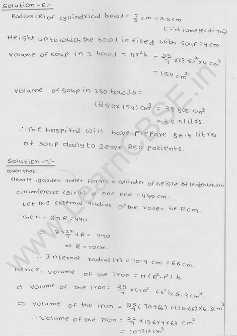 RD Sharma Class 9 solutions Chapter 19 Surface Area and