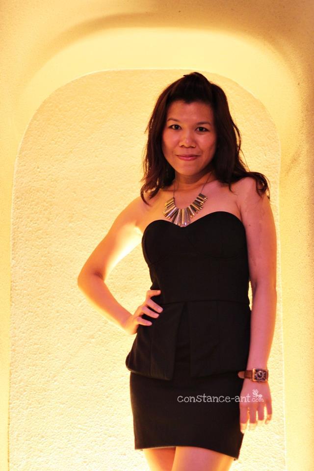 Little Black Peplum Dress by Whitesoot