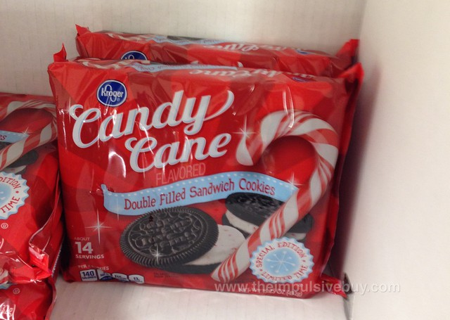 Kroger Special Edition Candy Cane Double Filled Sandwich Cookies