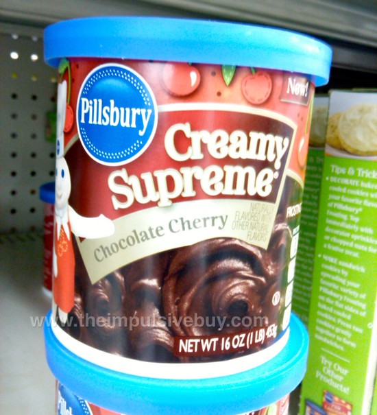 Pillsbury Creamy Supreme Chocolate Cherry Frosting