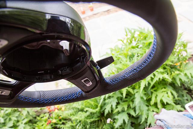 XuJi Black Suede Steering Wheel Cover for Volkswagen Golf 7 GTI Golf R MK7