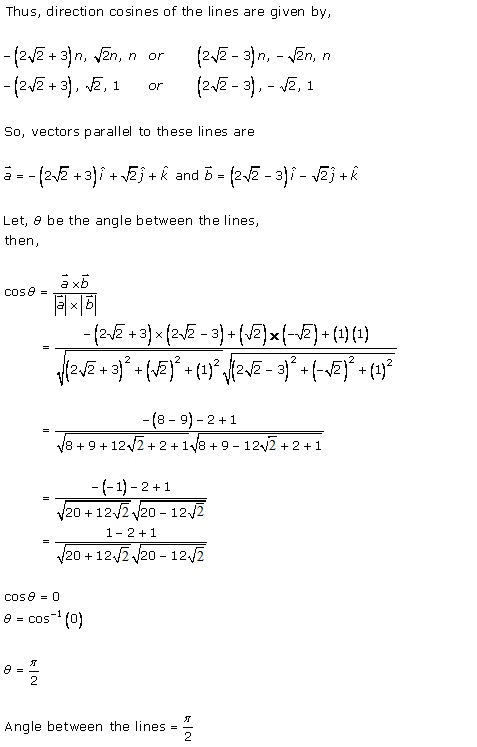 RD Sharma Class 12 Solutions Chapter 27 Direction Cosines and Direction Ratio Ex 27.1 Q4-vi