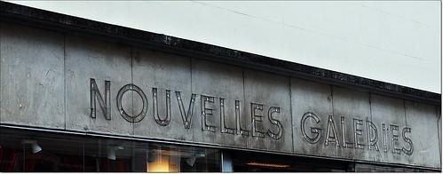 4 - Chalon-sur-Saône Rue de la Banque Dernières traces des Nouvelles Galeries