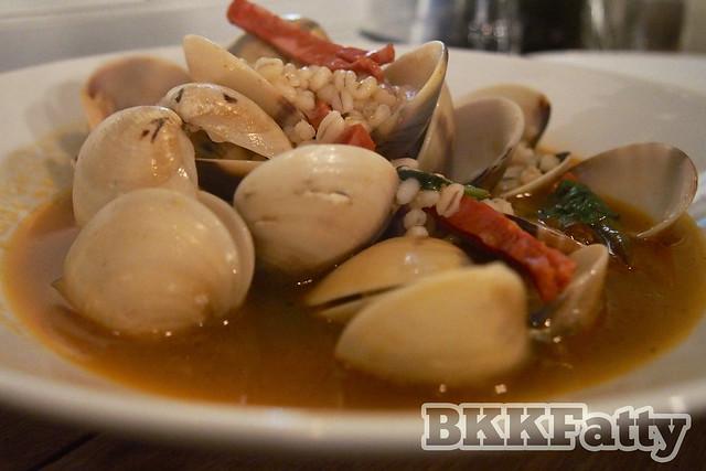 barley clams chorizo at opposite mess hall