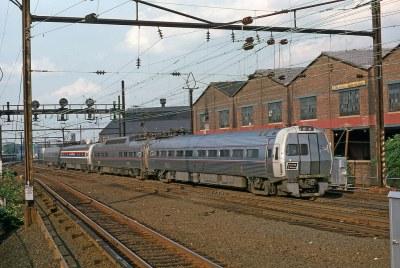 Amtrak 805 Metroliner Harrison 6-1975 mb