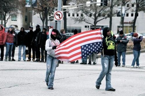 Ferguson protest in downtown St. Louis