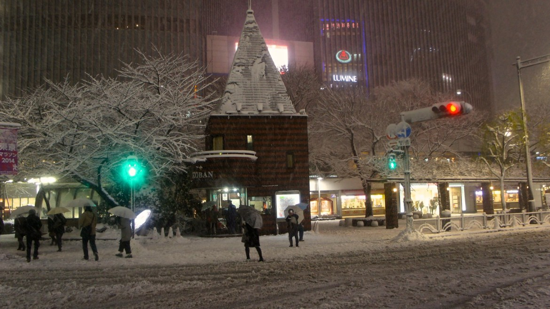 Ginza Square in Snow