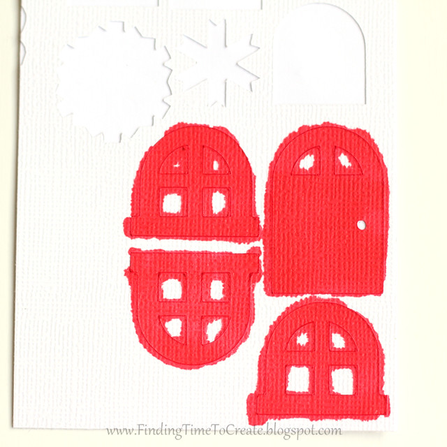 House Ornaments - custom color adhesive cardstock