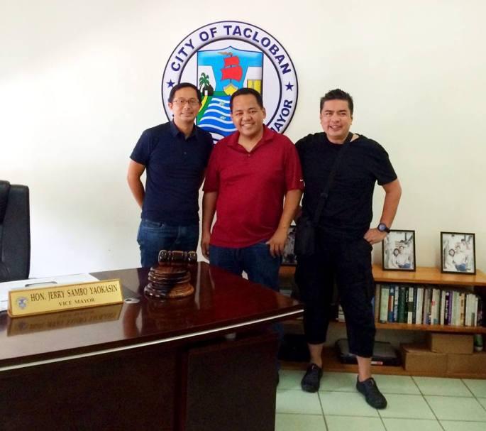 Vice Mayor Jerry Yaokasin with Anton & Spanky