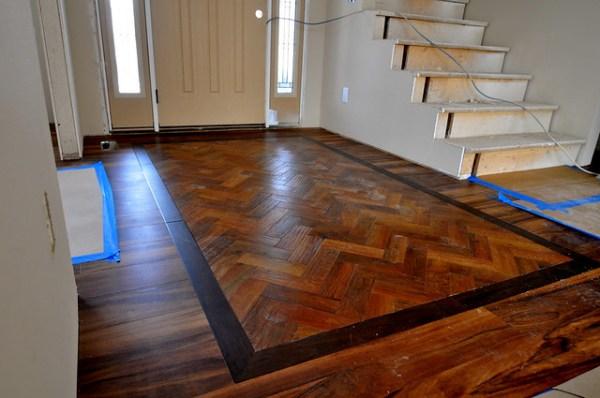 Foyer flooring fun!