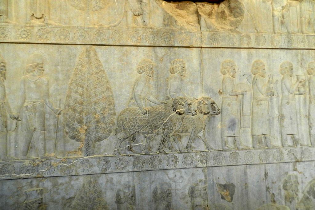 Escaleras de la Apadana o Sala de Audiencias  de Darío Persépolis Irán 40