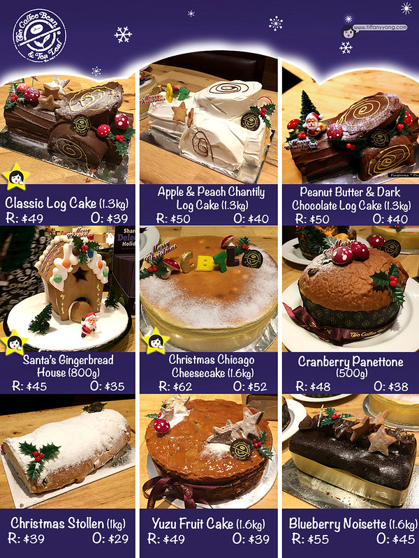 Christmas Dining CBTL Cakes List