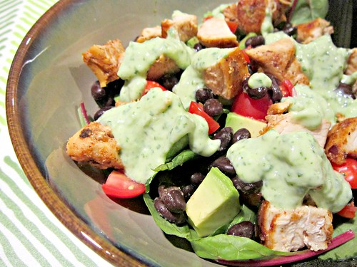 Grilled Chicken Taco Salads with Spicy Cilantro Lime Dressing 3