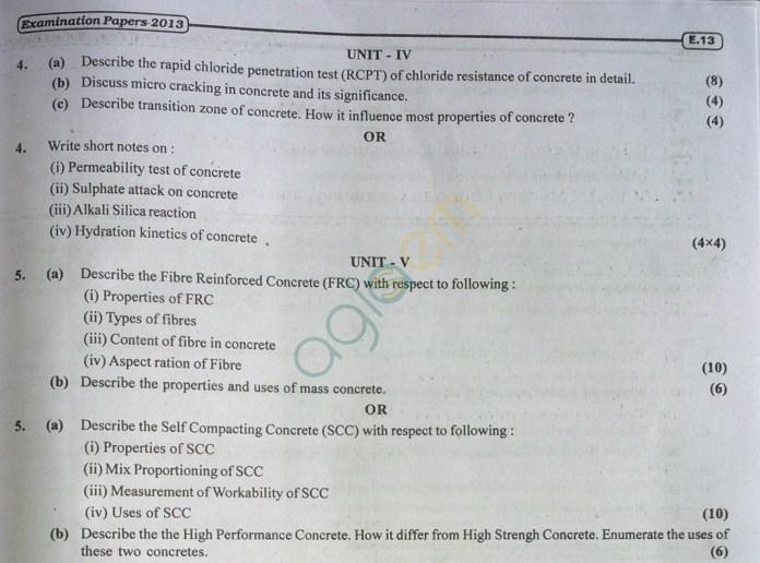 RTU: Question Papers 2013 - 5 Semester - CE - 5E3156