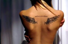 Small Angel Wing Tattoos For Women Ideas Picture 2015