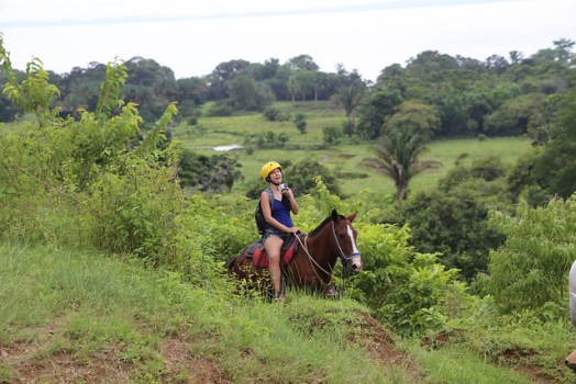 Costa Rica waterfall rappelling, horseback riding