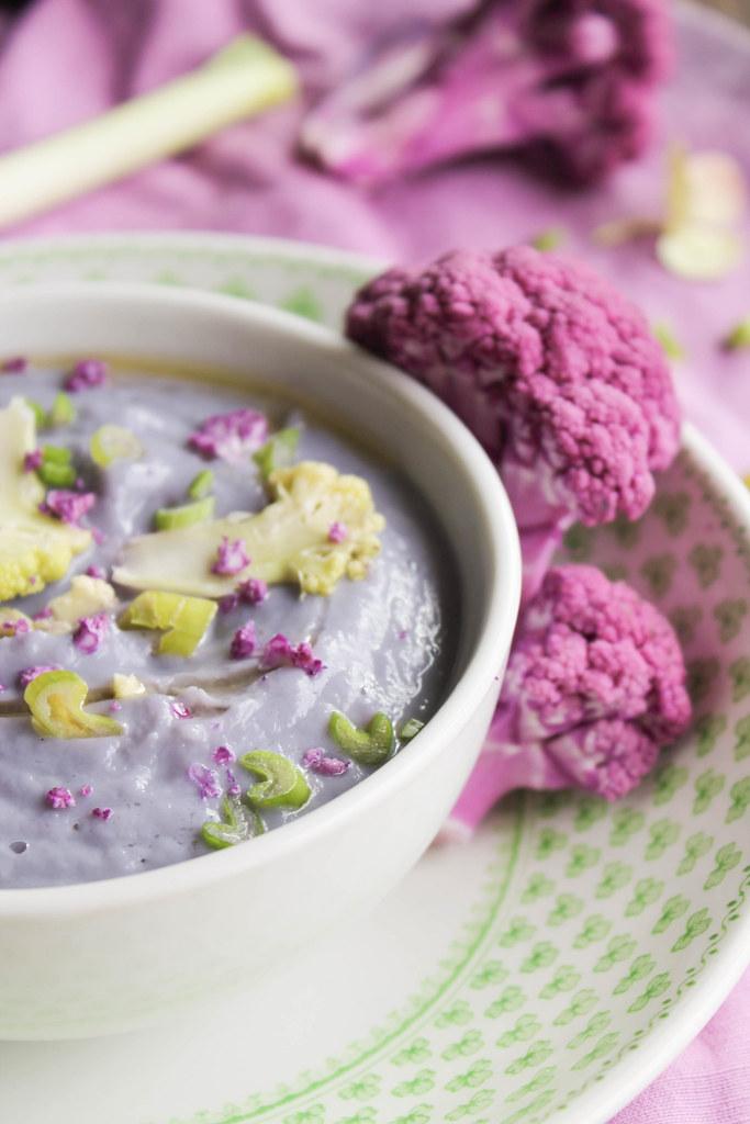 Velouté de chou-fleur violet