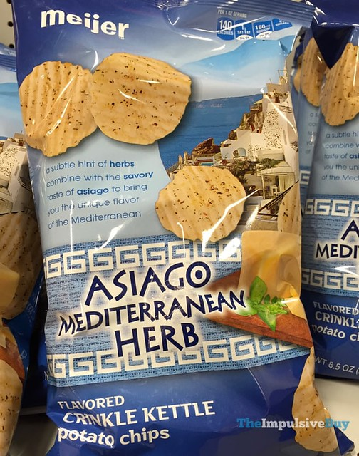 Meijer Asiago Mediterranean Herb Potato Chips